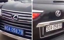 Kết quả xác minh xe Lexus LX570 mang 2 BKS màu xanh 80A ở đầu và màu trắng 30A ở đuôi