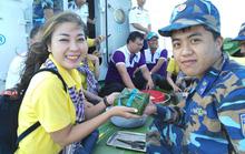 Các chiến sĩ giữ đảo Phú Quý vui hết mình trong Mùa xuân biển đảo