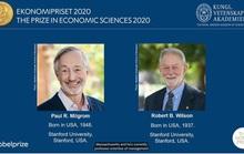 Giải Nobel Kinh tế 2020 đã có chủ