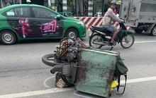 Bình Dương: Hai xe máy tông nhau, người đàn ông bị xe phun bê-tông cán chết
