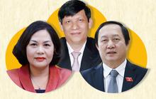 [Infographic] Ba nhân sự cho vị trí Thống đốc NHNN, Bộ trưởng Y tế, Bộ trưởng KH-CN