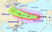 Bão số 13 giật cấp 15, sóng biển cao 8-10 m, hướng vào miền Trung