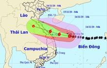 Bão số 13 mạnh thêm, giật cấp 17, hướng vào từ Hà Tĩnh-Quảng Nam
