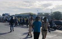 Bắt khẩn cấp tài xế xe ben lạng lách, húc xe CSGT ở Đồng Nai