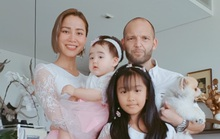 Diễn viên Bảo Trúc gửi yêu thương khi chồng Tây nằm bệnh viện
