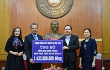 Kiều bào ủng hộ hơn 11 tỉ đồng hỗ trợ bà con miền Trung