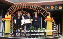 Yến sào Khánh Hòa vào Top 100 doanh nghiệp phát triển bền vững năm 2020