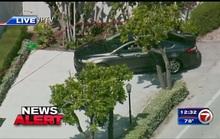 Xe lao qua chốt gác gần dinh thự của Tổng thống Trump, cảnh sát truy đuổi tới cùng