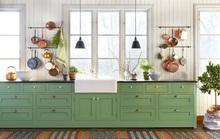 Những gam xanh tối màu tuyệt đẹp cho căn bếp hiện đại