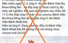 Đăng tin giả về Covid-19,  người  đang ở bên Mỹ  đã bị tìm thấy ở Đồng Nai