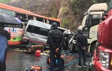 Hiện trường kinh hoàng vụ tai nạn giữa 2 xe khách và xe đầu kéo