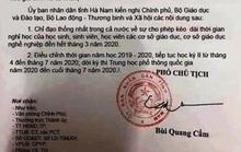 Đăng văn bản giả mạo của UBND tỉnh cho học sinh nghỉ học hết tháng 3 lên Facebook