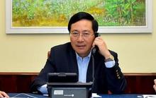 Phó Thủ tướng Phạm Bình Minh điện đàm với Ngoại trưởng Hàn Quốc