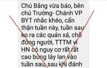 Thông tin Chánh Văn phòng Bộ Y tế cảnh báo về dịch Covid-19 ở Hà Nội là tin giả