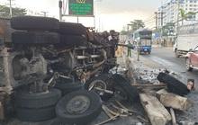 Tai nạn xe ben trước Trung tâm Công nghệ sinh học TP HCM