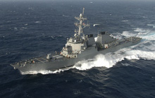 Chiến hạm Mỹ lại đi qua eo biển Đài Loan lần thứ 2 trong tháng