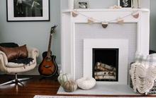 Những căn phòng đẹp sang trọng với sơn tường màu xám