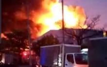 CLIP: Cháy lớn tại Công ty Đồng Xanh trong Khu công nghiệp Hạnh Phúc- Long An