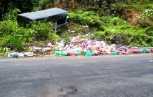 Hàng chục người dân giúp đỡ tài xế xe tải gặp nạn đâm vào vách núi ở đèo B40