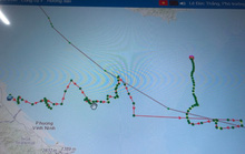Tàu cá Quảng Trị di chuyển khác thường rồi mất tích trên vùng biển xa