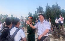 Vụ lật thuyền 5 người mất tích: Bí thư, chủ tịch Quảng Nam tới hiện trường