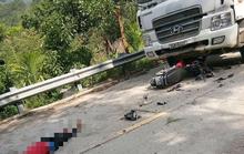 Tai nạn giữa xe máy và xe tải, 2 người chết