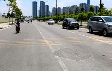 Đường lớn ở Khu Đô thị mới Thủ Thiêm lún nứt, đọng đất cát