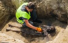 Đào đường, kinh hoàng phát hiện 115 bộ hài cốt ngậm tiền