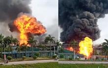 Cháy lớn tại kho hóa chất, xuất hiện nhiều tiếng nổ