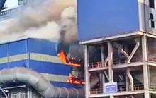 Thép Hòa Phát Dung Quất gặp sự cố, lửa cháy ngùn ngụt