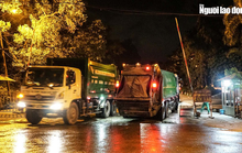CLIP: Xe chở rác hoạt động xuyên màn đêm để giải cứu Hà Nội khỏi ùn ứ rác thải