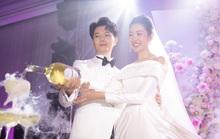 Á hậu Thúy Vân công bố có con trai đầu lòng tại đám cưới