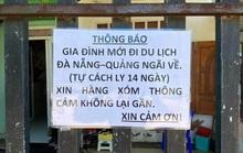 """Chuyện 1 gia đình ở Bà Rịa - Vũng Tàu dán thông báo: """"Mới đi du lịch Đà Nẵng- Quảng Ngãi về..."""