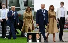 """Tổng thống Trump """"lu mờ"""" khi đi cạnh quý tử Barron"""