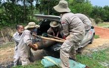 Quảng Nam- Quảng Trị: Đào móng nhà, phát hiện quả bom khủng