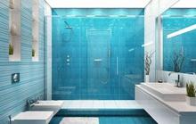 10 mẫu phòng tắm thẩm mỹ với tông màu xanh