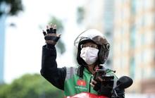 Gojek Việt Nam nổi bật với màu xanh và đen đặc trưng