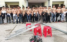 Bắt giữ 59 thanh niên mang hung khí dàn trận ở Biên Hòa