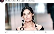 Minh tinh Demi Moore gây sốc với gương mặt khác lạ