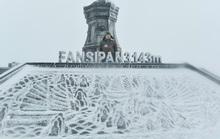 Luồng mưa tuyết hiếm thấy từ phía Bắc tràn xuống phủ trắng xóa đỉnh Fansipan