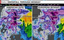 Mỹ đối mặt bão tuyết, mưa lũ và lốc xoáy cùng ập đến