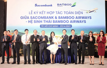 Chủ tịch Sacombank tại Lễ ký hợp tác toàn diện với Bamboo Airways: Hai thương hiệu, triệu giá trị