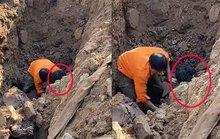 Sức khỏe người đàn ông đào được dưới hố sâu 2 m ra sao?