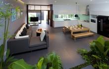Rộng ngang, nhà ở TP HCM như căn hộ với không gian xanh mát