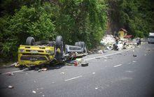 Bình Định: Ô tô chở hàng đông lạnh đâm vào vách núi, 2 tài xế tử vong tại chỗ