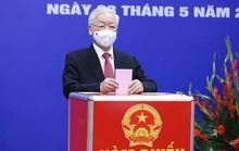 Những hình ảnh Tổng Bí thư Nguyễn Phú Trọng bỏ phiếu bầu cử