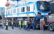 Cận cảnh đoàn tàu số 4 của metro số 1 đưa về depot Long Bình, TP Thủ Đức
