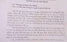 Công an TP HCM tạm đình chỉ đơn tố giác của Giám đốc Công ty Vinasia Chế Tạo
