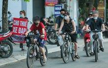 CLIP: Dịch vụ cho thuê xe đạp ở hồ Tây kiếm tiền triệu mỗi ngày