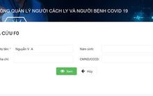 Ứng dụng giúp tra cứu thông tin về người đang cách ly, điều trị Covid-19